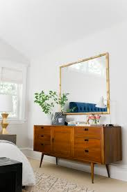 mid century modern dresser love the styling and the large mirror above it bedroom sideboard furniture