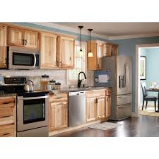 Hampton Bay Kitchen Cabinets Hampton Bay 2x90x2 In Hickory Natural Kitchen Cabinet Crown