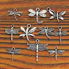 Mixed Tibetan Silver Plated <b>Insect</b> Dragonfly Bee Charms Pendants ...