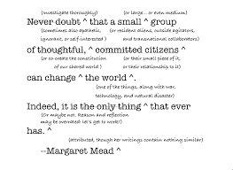 Margaret Mead's quote is trademarked « Peter Levine via Relatably.com
