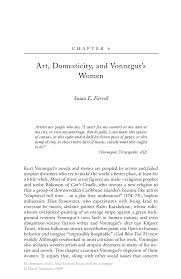 art domesticity and vonnegut s women springer new critical essays on kurt vonnegut new critical essays on kurt vonnegut