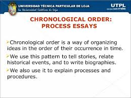 Chronological order process essays ACADEMIC WRITINGCHRONOLOGICAL ORDER  PROCESS ESSAYS