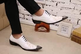 Korean fashion <b>men's</b> hair stylist pointed <b>shoes British fashion</b> printe ...