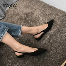 <b>BYQDY</b> 2020 <b>Fashion</b> Black Low Heels <b>Women</b> Pumps Buckle ...