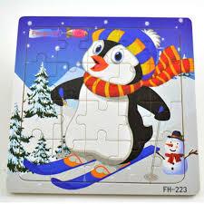 <b>Wooden</b> 3D Puzzle Jigsaw <b>Toys</b> For <b>Children Cartoon</b> Animal ...