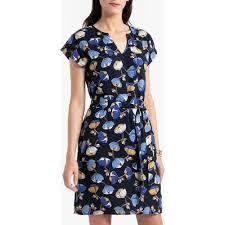 Женское <b>платье прямое с</b> цветочным рисунком <b>La Redoute</b> синее ...