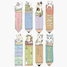 30PCS <b>Cute Funny Cat</b> Shaped Paper Bookmark Kids Gift ...