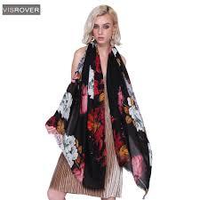 <b>VISROVER 2018 Women</b> Brand Fashion Floral <b>Shawl Scarf</b> Print ...