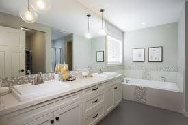 pendant modern bathroom lighting with double sink bathroom vanity and large mirror also built in bathroom sink lighting