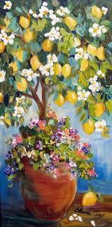lemon tree x: items similar to lemon tree original landscape painting wall art decor gift for her original oil painting  x  art by elaine cory on etsy