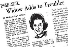 Image result for is there a dear abby advice column