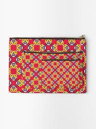 """Red <b>geometric pattern</b>"" Zipper Pouch by yolidoo | Redbubble"