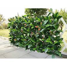 e-joy 24 Piece <b>Artificial Topiary Hedge Plant</b> Privacy <b>Fence</b> Screen ...