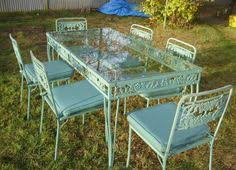 vintage patio set yard sale 25 i spent 3 x more changing the chair covers antique rod iron patio