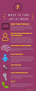 ways to joy at work everyday gyaan 7 ways to joy at work infographic