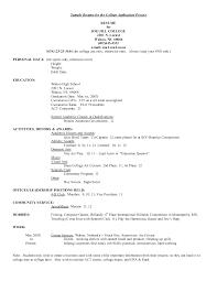 college interview resume format college resume 2017 resume