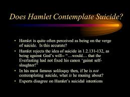 HAMLET     ESSAY TOPICS Essay