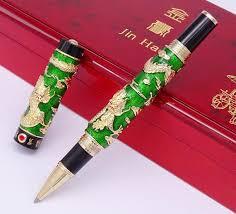 <b>Jinhao Double</b> Dragon Rollerball Pen Noble Green <b>Cloisonne</b> | Etsy