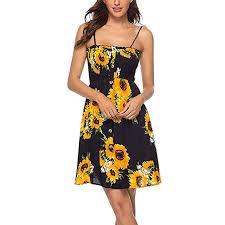 Women Fashion Casual Sleeveless <b>Camis</b> Flora <b>Mini</b> Dress Ladies ...