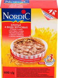 <b>Хлопья NORDIC 4</b>-х видов зерновых – купить в сети магазинов ...