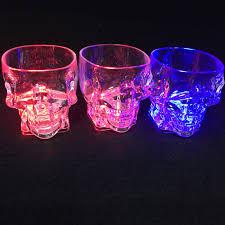 2018 <b>40pcs</b>/<b>lot</b> Colorful Flashing Led Light Cup <b>Magic</b> Ghosts Glass ...