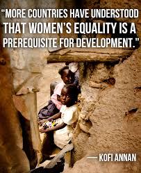 Kofi Annan Quotes On Women. QuotesGram via Relatably.com