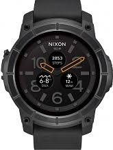 """smart watches men s ladies bluetooth watches watch shop comâ""""¢ mens nixon mission android wear bluetooth smart watch a1167 001"""