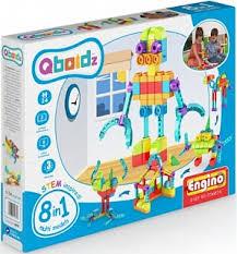 Конструктор <b>ENGINO</b> QBOIDZ Набор из 8 <b>моделей</b>. Робот [QB08C]