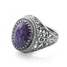 Кольцо Sherl Чароит/<b>мельхиор</b> Фиолетовый — в Категории ...