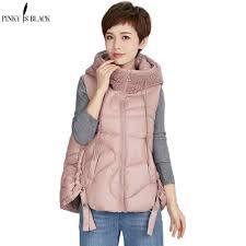<b>PinkyIsBlack 2020</b> New Fleece Spliced Glossy Winter <b>Women</b> Vest ...