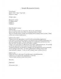 cover letter template letter of resignation letter of cover letter resignation letter format street sample letter of template