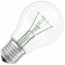 Купить <b>Лампа накаливания 75Вт</b> 220В Е27 прозрачный ЛОН ...