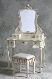 stunning antique white hayworth vanity with mirror plus matching stool for makeup room furniture ideas charming makeup table mirror lights
