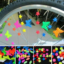 LIOOBO 36 Pcs Luminous Round <b>Bicycle Wheel Spoke Colorful</b> ...