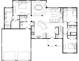 Open floor plans  Open floor and Floor plans on PinterestIndecipherable Open Floor Plan House Plans Without Legend And Scale