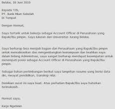 cover letter bahasa indonesia klik gambar untuk memperbesar contoh cover letter
