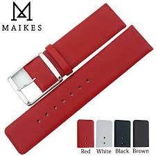 <b>MAIKES 16mm 18mm 20mm</b> 22mm Genuine Leather Watch Band ...