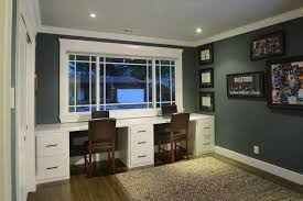 contemporary home office with room partition 3 basement office design