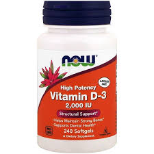 <b>Витамин</b> Д3, Vitamin <b>D</b>-3, Now Foods, 2000 <b>МЕ</b>, <b>240</b> капсул - в ...