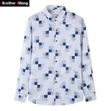 <b>2019</b> Autumn New Men's <b>Plaid</b> Shirt Stylish Casual <b>Large Size</b> Long ...