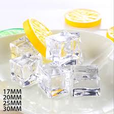 <b>3PCS</b>/<b>SET Artificial</b> Ice Cubes Reusable Acrylic Crystal Fake Ice ...