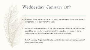 wednesday january  th  greetings future leaders of the world  wednesday january  th  greetings future leaders of the world today we will