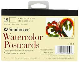Strathmore Blank Watercolor Postcards pad of 15 ... - Amazon.com