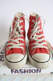 90s <b>Vintage</b> Red Converse High Tops Classic Chucks <b>Grunge God</b> ...