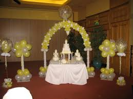 Cake Table Decoration Balloons For Weddings Worldwide Balloon Decor