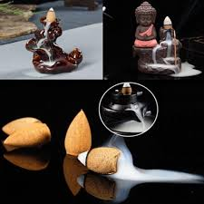 <b>Retro</b> Handmade Porcelain <b>Ceramic Backflow Incense</b> Burner ...