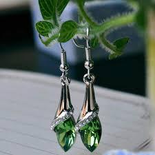 Online Shop Big Crystal <b>Pendant</b> Earrings <b>Fashion</b> Long Paragraph ...