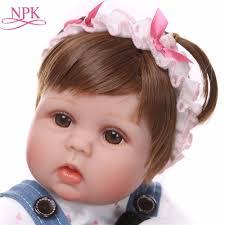 NPK <b>Cute</b> Silicone <b>Reborn Dolls</b> Baby Menina Alive 17'' Newborn ...