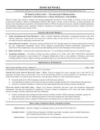 Example Information Technology Service Delivery Resume Sample Aspirations Resume Writing Service sample resume