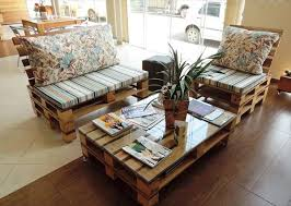 handmade pallet living room sitting furniture set build pallet furniture plans